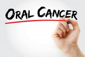 hand writing oral cancer